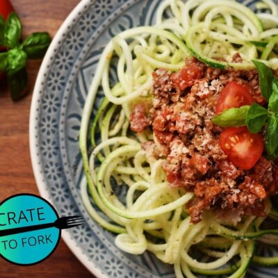 Zoodles with Vegan Meatsauce
